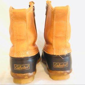 44d6d1075f0 Women's Cabela Side Zip Leather Rubber Duck Boots